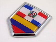 Dominican republic / Colombia Flag Car Chrome Emblem Decal Sticker