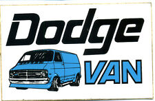 vtg hot rod sticker Dodge Van Vanner 70's nos old speed shop