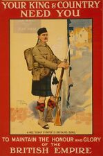 WW1 RECRUITING POSTER BRITISH ARMY SCOTS SCOTLAND SCOTTISH SOLDIER NEW A4 PRINT