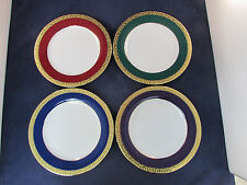 SET OF EIGHT - Royal Gallery GOLD BUFFET - COLORS Salad / Dessert Plates