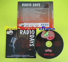 CD RADIO DAYS compilation 96 MILLER SINATRA HOLIDAY ARMSTRONG (C2)no lp mc dvd