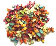 40 diseños mezclados mariposa grande 25mm 2 orificios botones madera.