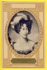 cpa Superbe Rare Art Déco Royalty Portrait DUCHESSE des DEUX SICILES par GERARD