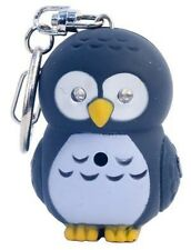 Brown OWL Key Chain with LED light & Hoot Hoot Sound