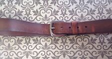 Levi Strauss & Co. Brown Leather Belt Size 38 with levi stamp