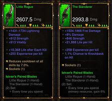 Diablo 3 Ros Ps4 [ años ] - Istvan's emparejado Blades Set [ antigua ]