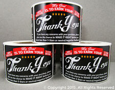 250 eBay etsy amazon Thank You For Your Purchase Stickers Shipping Labels Label