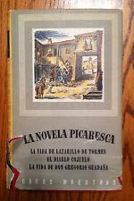 La Novela Picaresca Obras Maestras (Spanish Edition) - Iberia 1955