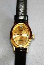 Timex Diamond Ladies Watch Dainty/Petite with 100% Leather Strap a WoW Diamond