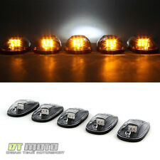 5Pcs LED Roof Cab Marker Parking Running Lights Lamps Truck Pickup Suv Off Road