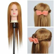 "26"" Cosmetology Mannequin Head Hair Salon Hairdressing Training w/ Clamp Ho"
