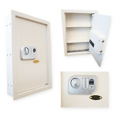 WALL MOUNT SAFE BIOMETRIC FINGERPRINT COMBINATION PASSWORD GUN VAULT OFFICE HOME
