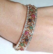 Rose Gold Vermeil and Sterling Silver Multi Gemstone Bracelet
