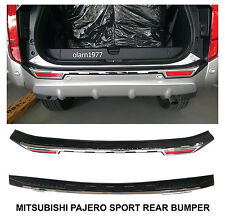 MITSUBISHI MONTERO PAJERO SPORT Tailgate Rear Bumper Guards Cover Trim 2015-2016