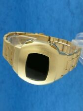 Rare old style modern futuristic 70s seventies space age mens led l.e.d watch 25