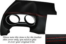 RED STITCH DASH SPEEDO SURROUND LEATHER SKIN COVER FITS PEUGEOT 4007