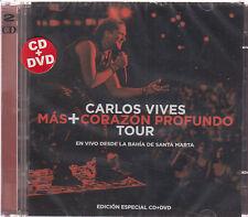 CD / DVD Carlos Vives NEW Mas + Corazon Profundo Tour EN VIVO FAST SHIPPING  !