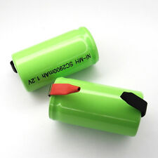 Sub C SubC With Tab 2900mAh Ni-MH rechargeable Battery cell pack Green