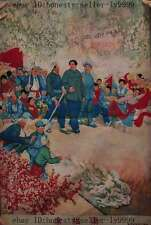 """38"""" chinese Silk tangka Leader Maozedong and Red Army people kids Thangka"""