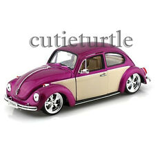 Welly Low Rider VW Volkswagen Beetle 1:24 Diecast Model Car 22436 2 tone Purple
