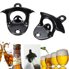 Black Wall Mount Stainless Steel Bar Wine Beer Glass Cap Bottle Opener Tools New