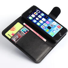 HOUSSE ETUI COQUE CUIR LUXE PORTEFEUILLE A RABAT APPLE IPHONE 4 / 4S