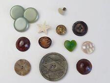 VTG Lot Buttons Rare Unique Anchor MOP 15 pcs Heart Star Shank