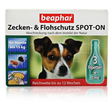 Beaphar Bio Spot On Flea and Tick Adult Small Dogs up to 15kg 3 pack 3 months