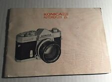 Vintage Konica T Autoreflex 35mm Film SLR Camera - User Instruction Manual