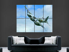 WWII DE HAVILLAND MOSQUITO WAR PLANE  WALL POSTER ART PICTURE PRINT LARGE HUGE