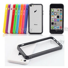 10PCS Colors Frame Hard Rubber TPU Bumper Case For Apple iPhone 5C