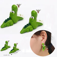 1 Pair Cartoon 3D Animal Funny Open Mouth Crocodile Ear Stud Earring Jewelry