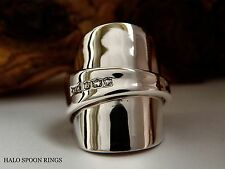 STUNNING & CHUNKY SOLID SILVER INVERTED SPOON RING 1933  PERFECT CHRISTMAS GIFT