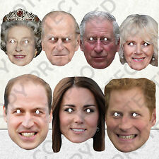 NEW CELEBRITY FACE PARTY MASK HEN WHOLE ROYAL FAMILY STAG DO MASKS QUEEN #MP4