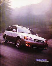 2001 Subaru Outback VDC 2-page - Classic Car Advertisement Print Ad J86