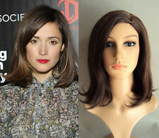 DELUXE ROSE BYRNE VOLUME LONG BROWN HIGHLIGHTED BOB HEAT RESISTANT FASHION WIG
