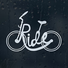 Ride Bicycle Car Decal Vinyl Sticker For Window Bumper Panel