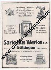 Sartorius Werke Göttingen Waage Theodolit Große Werbeanzeige anno 1924 Rklame