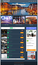 Sitio web de vuelo y hotel-totalmente automatizado negocio sitio Web de viaje para la venta