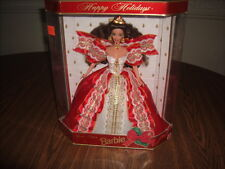 Barbie 1997 10th Anniversary Happy Holidays Special Edition Brunette Red Dress