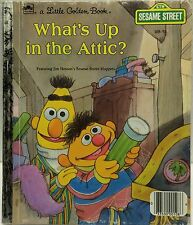 Save $5 off 4 or more! Sesame Street What's Up in the Attic? Little Golden Book