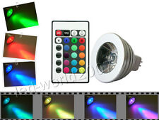 5W 5 WATT RGB FLASH LED LAMP LIGHT BULB REMOTE CONTROL MR16
