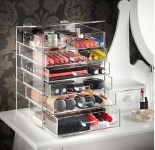 Clear Cube Makeup Organizer Large Acrylic Box Cosmetic Accessories Storage Case