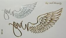 Body art : Tatouage temporaire ailes dorées et argentées - wing