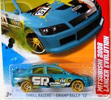 2012 Hot Wheels #188 THRILL RACERS SWAMP RALLY∞ MITSUBISHI 2008 LANCER EVOLUTION