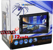 "SoundStream VR-651B 2-Din 6.5"" LCD Multimedia Touchscreen Receiver w/ Bluetooth"