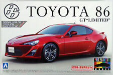 """Aoshima 10068 Toyota 86 GT """"Limited"""" 2012 Lightning Red 1/24 (Pre-painted Model)"""