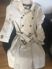 RARE MENS TOP OF THE LINE PREMIUM QUALITY BURBERRY LONDON TRENCH COAT BEIGE 44L
