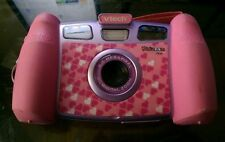 VTech Kidizoom PLUS Kids Camera & VIDEO Camcorder Pink W/Case,USB,TV Hookup,Book