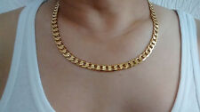"24"" 10mm 18K Gold Filled Chain Necklace & Gift Box Men's Valentine's Present Dad"